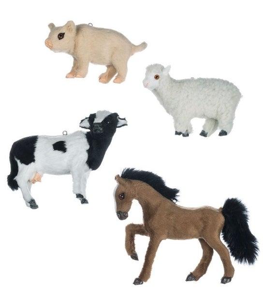 FARM ANIMALS ORNAMENT 4 Asst