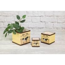 FARM FRESH SQUARE PLANTER SET OF 3
