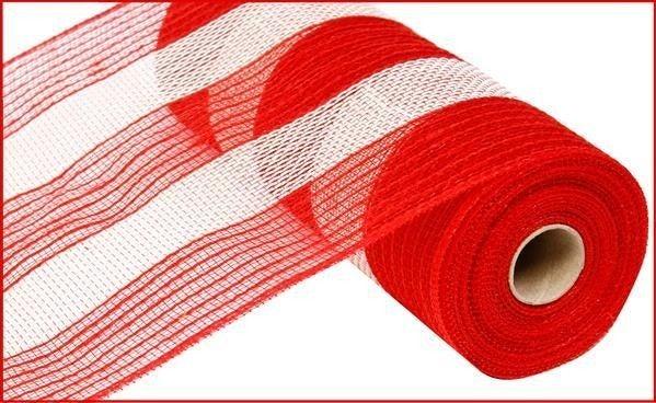 """10.5""""X10yd Poly/Faux Jute/Cotton Stripe"""