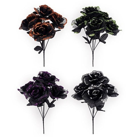 Halloween Rose Bush: 5 X 13 Inches, 4 Assorted Colors