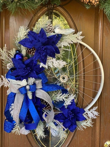 Blue Christmas Bike Rim