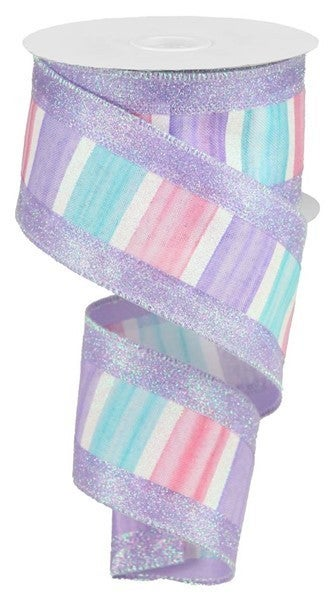 "2.5""X10yd 3-In-1 Watercolor/Glitter Color: Blue/Pink/Lav/White"