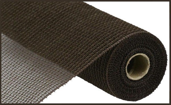 "10.5""X10yd Faux Jute/Pp Stripe Chocolate"