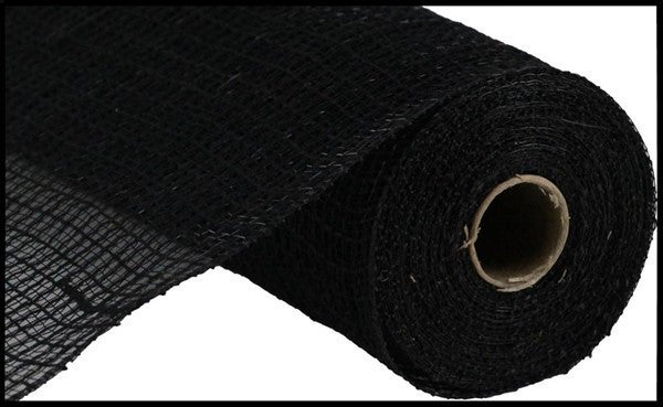 "10.5""X10yd Faux Jute/Pp Check Black"
