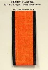 Vlad Wired Edge, Orange/black, 1-1/2 Inch, 25 Yards