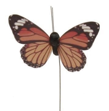 "3""W Monarch Butterfly On 10"" Wire"