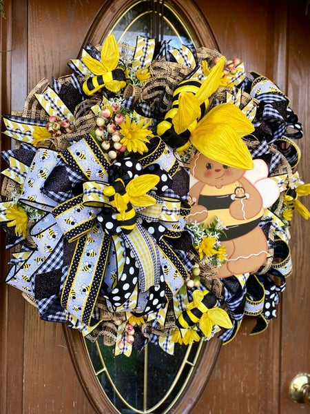 Ronni's Bee Wreath