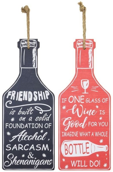 GOOD SHENANIGANS BOTTLE HANGING SIGN