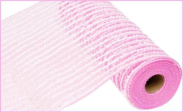 "10.5""X10yd Cotton Drift/Pp Mesh Pink/white"