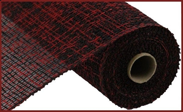 "10""X10yd Two-Tone Poly Burlap Mesh Red/Black"