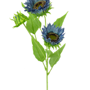 Sunflower Spray X 3 Dia5.5xH26 Blue