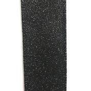 """Black All Flat Glitter 1.5""""x10yd"""