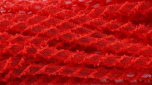 8Mm X 20Yd Snowdrift Deco Flex Tubing Red