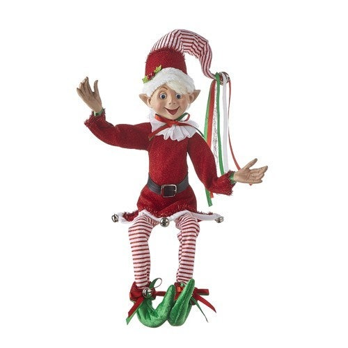 """Country Christmas 30"""" POSABLE ELF"""