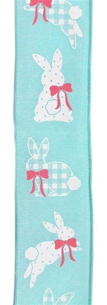 "2.5""X10yd Patterned Bunnies On Royal Blue"