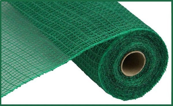 "10.5""X10yd Faux Jute/Pp Check Emerald Green"