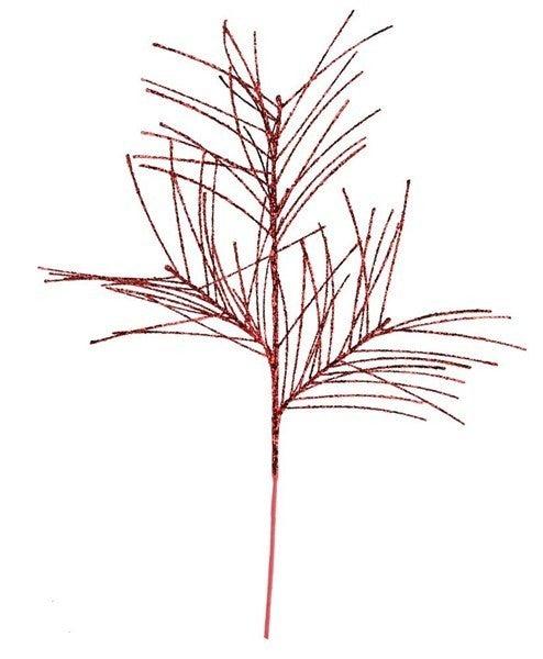 "31""L Glittered Pine Spray Red"