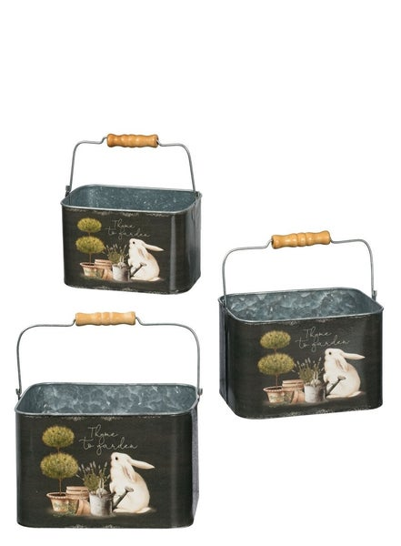 RABBIT PLANT PLANTERS Set 3
