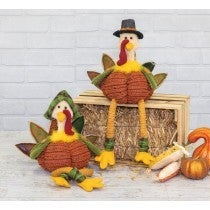 FALL FLANNEL PILGRIM TURKEY DANGLE LEG