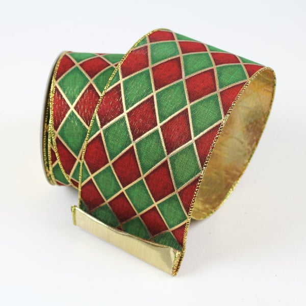 "HOLIDAY JESTER 2.5"" X 10YD / RUBY GREEN"