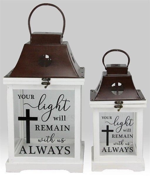 Set of 2 Your Light Will Remain Lanterns