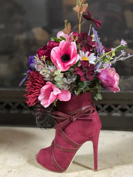 High Heel Floral Arrangement