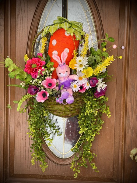 Spring/Easter Floral Grapevine Wreath