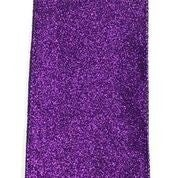 "Purple All Flat Glitter 2.5""x10yd"
