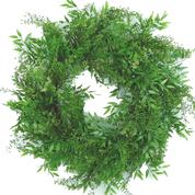 "Plastic Mix Greenery Wreath 24"""
