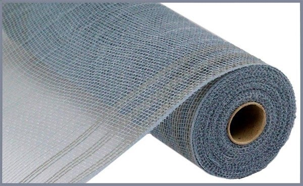 "10.5""X10yd Faux Jute/Pp/Border Stripe Grey"