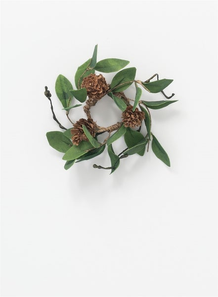 """1.5"""" LEAF PINECONE ACCENT RING"""