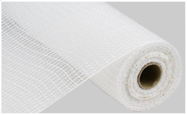 "10.5""X10yd Faux Jute/Pp Check White"