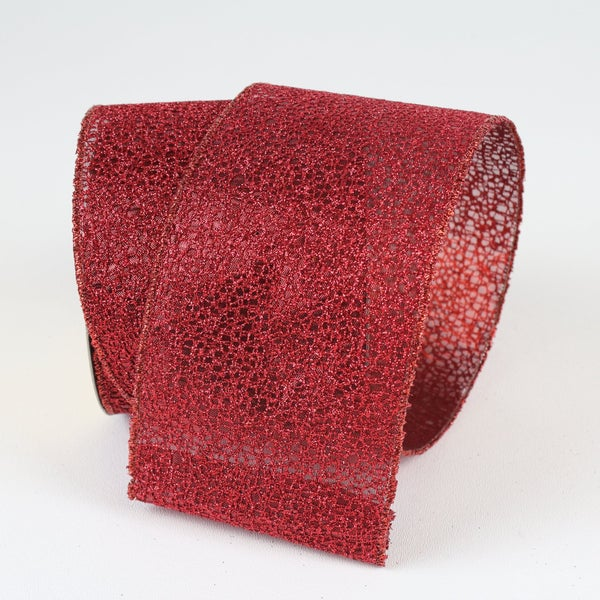 "GLITTER CORAL - 2.5""X 10YD / RED"