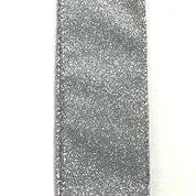 "Silver All Flat Glitter 1.5""x10yd"