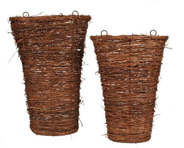 Set of 2 Grapevine Wall Basket