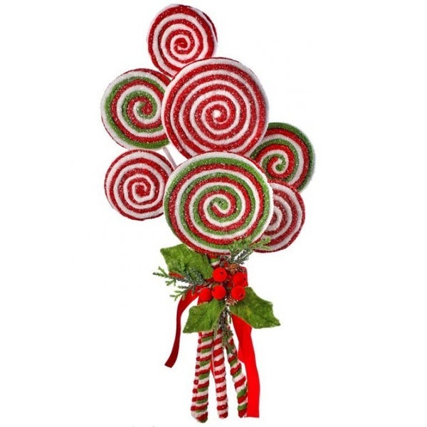 "20"" FROSTED LOLLIPOP BUNDLE W/HOLLY"