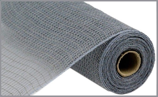 "10.5""X10yd Faux Jute/Pp Check Grey"