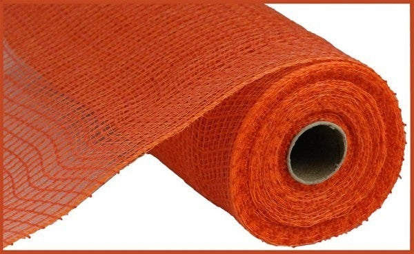 "10.5""X10yd Fabric Mesh Faux Jute/Pp Check Orange"