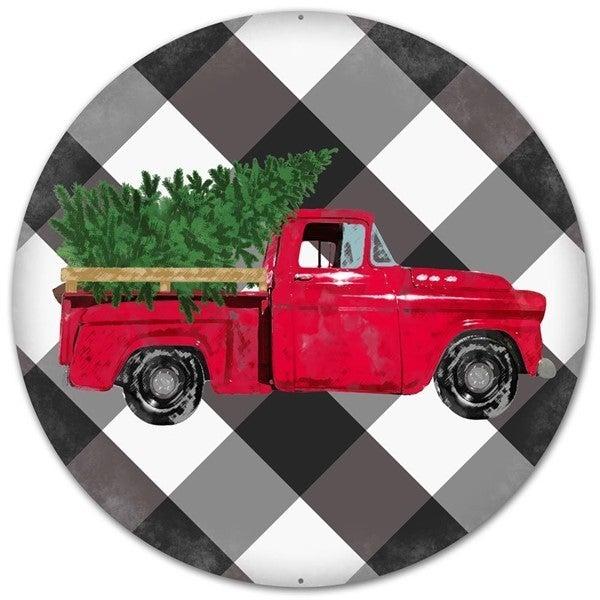 "12""Dia Vintage Truck/Bold Plaid"