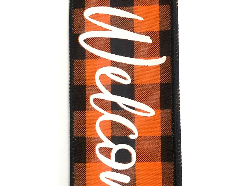 "ORANGE-BLK BUFF PLD/WELCOME 2.5""X10YD"