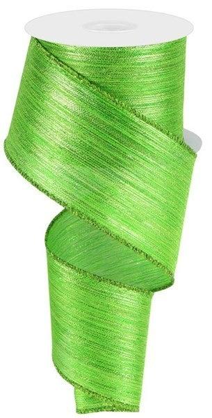"2.5""X10yd Vertical Metallic Stripe Lime Green"