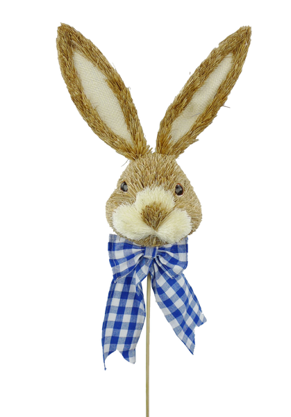 Bunny Head w/Bow D4.5xW4.5xH23 Blue