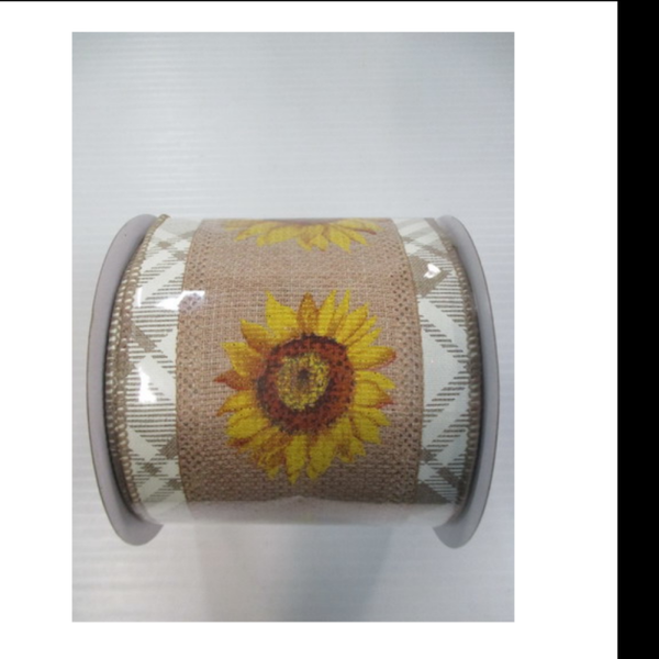 "SUNFLOWER RIBN 4""x10yd"