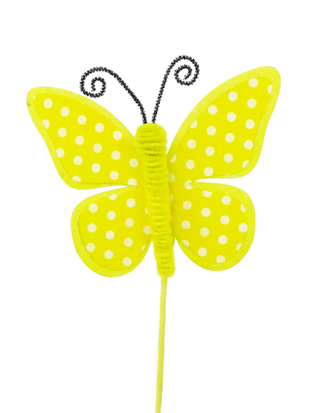Butterfly Polkadot Pick H17 Yellow