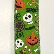 "Lime Linen Fun Halloween 1.5""x10yd"