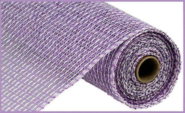 "10""X10YD MULTI POLY BURLAP MESH Color: Lavender/White"