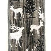 "Grey Wood Linen/White Deer 2.5""x10yd"
