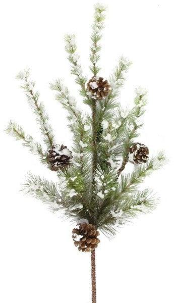 """32"""" Snowdrop Mountain Pine/Pncone Spray"""