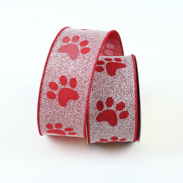 "PUPPY PAWS 2.5"" X 10YD / RED"
