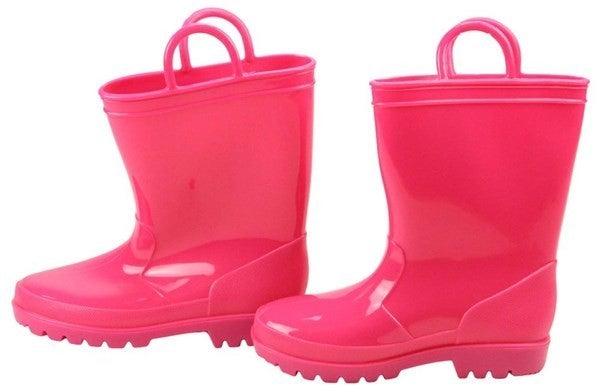 Pvc Rain Boots W/Loops - Pink